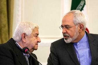 دیدار وزیر خارجه سوریه با ظریف در تهران