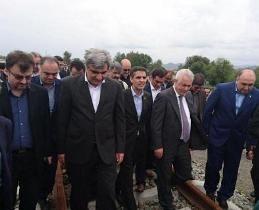 بازدید استاندار گیلان از مراحل ساخت راه آهن آستارا- آستارا