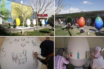 برگزاری جشنواره رنگ آمیزی 20تخم مرغ در میدان صادقیه