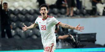آمار نیمه اول بازی ایران و ویتنام