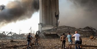 انفجار بیروت ناشی از بمب بوده است+تصاویر