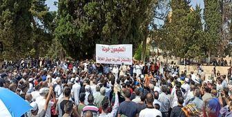 تجمع هزاران فلسطینی در قدس