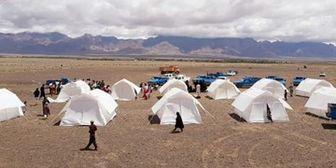 اسکان ۱۱۹۸۸ نفر آسیب دیده در چادرهای هلال احمر