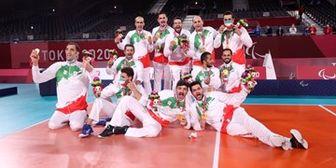اهدای مدال طلا به بازیکنان تیم ملی والیبال نشسته ایران+ فیلم