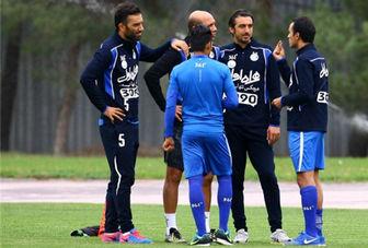 کری رحمتی با بازیکنان در تمرین امروز استقلال