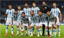 ترکیب آرژانتین برای دیدار با ایران