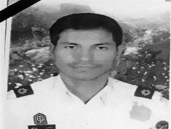 مراسم تشییع و تدفین افسر پلیس راه چمن بید در شیروان برگزار شد