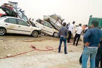 9 کشته و مجروح در تصادف زنجیره ای