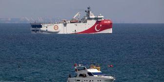 برخورد بین شناورهای ترکیه و قبرس در شرق دریای مدیترانه
