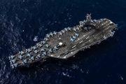رزمایش ناو آمریکایی در دریای چین