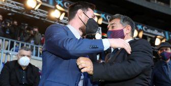 بارسا برای تمدید با مسی از رئیس لالیگا کمک خواست