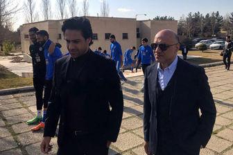 اولین حضور فرهاد مجیدی در تمرین استقلال