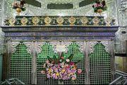 گل آرایی حرم حضرت عبدالعظیم(ع) در روز میلاد/ گزارش تصویری