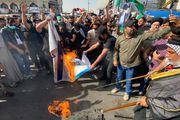 تظاهرات گسترده در بغداد در حمایت از مقاومت فلسطین