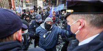 درگیری طرفداران و مخالفان ترامپ در «منهتن»+تصاویر