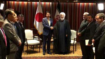 دیدار رئیس جمهور با نخست وزیر ژاپن+ عکس