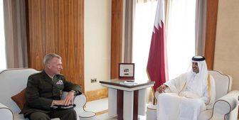 دیدار فرمانده تروریست آمریکایی با امیر قطر