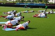 تمرین سبک تیمملی فوتبال در قطر