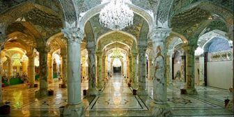 غبارروبی صحن حضرت زهرا(س) برای پذیرایی از زائران اربعین/ تصاویر