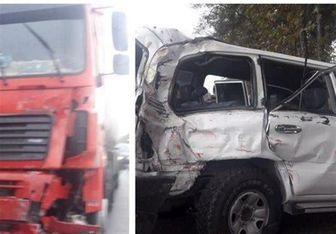تصادف شدید خودروی یک مسئول