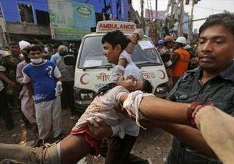 افزایش تلفات حادثه بنگلادش به ۳۲۵ قربانی