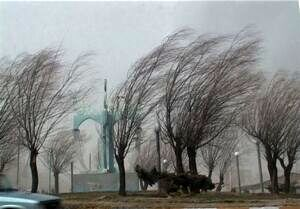 ادامه وزش باد در تهران