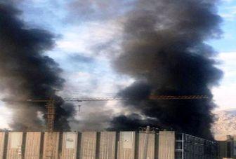 آتش سوزی ساختمان «ایران مال» حوالی دریاچه چیتگر