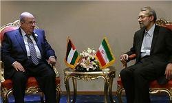 دیدار رؤسای مجالس ایران و فلسطین