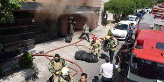 آتش سوزی ساختمان 10 واحدی در منطقه سعادت آباد