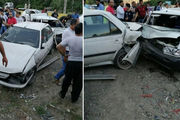 تصادف در محور هراز شش نفر مصدوم به جا گذاشت
