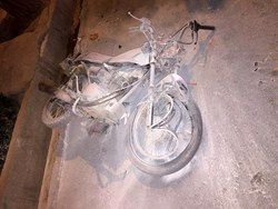 جان باختن یک تن بر اثر برخورد موتورسیکلت با گاردریل در بزرگراه شهید زین الدین