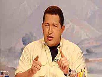 """اعتراض """" هوگو چاوز """" به فضاسازی آمریکا"""