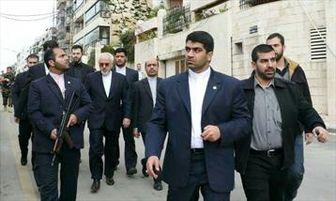 تیم حفاظت ویژه ظریف در خارج از ایران!/عکس