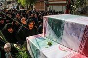 تشییع پیکر ۹ شهید گمنام دوران دفاع مقدس/ گزارش تصویری