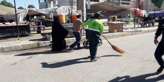 جمعآوری روزانه ۳ هزار تن زباله در کربلا توسط خدامالحسین