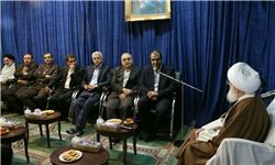 دیدار وزیر بهداشت با آیتالله نوری همدانی