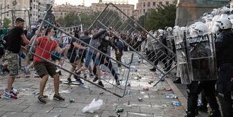 ناآرامی در «بلگراد» و ایجاد خسارات گسترده توسط معترضان