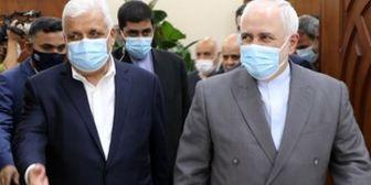 ظریف با رئیس الحشد الشعبی دیدار کرد+ عکس
