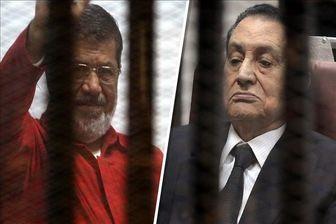 محمد مرسی و حسنی مبارک برای نخستین بار رو در روی هم قرار میگیرند
