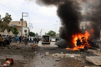 وقوع انفجار تروریستی در شهر اعزاز سوریه + تصاویر
