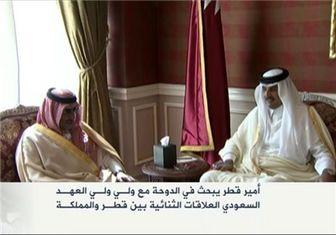 دیدار جانشین ولیعهد عربستان با امیر قطر