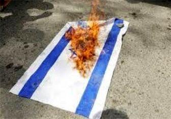 به آتش کشیدن پرچم اسرائیل در دانشگاه امام صادق(ع)