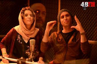 چهره درهم خانم بازیگر روی پوستر یک فیلم/ عکس