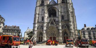 دستگیری یک مظنون در حادثه آتشسوزی کلیسای فرانسه
