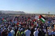 حمله ارتش صهیونیستی به راهپیمایی فلسطینیها