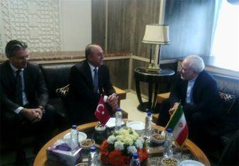دیدار ظریف و وزیر امور خارجه ترکیه