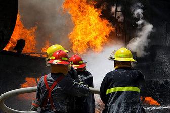 آتش سوزی در بازار مرکزی تهران