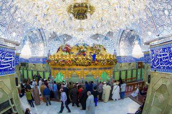 نمایی زیبا و دیده نشده از صحن حرم حضرت عباس(ع)/ عکس