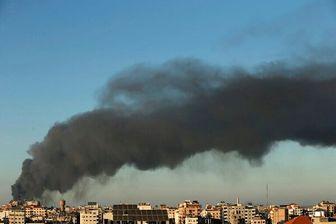 آتش سوزی گسترده در غزه/تصاویر