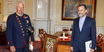 تسلیم استوارنامه سفیر ایران به پادشاه نروژ